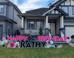 Hot Pink 60th Birthday Sign