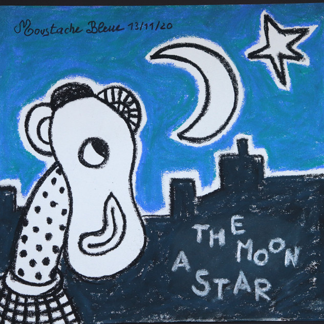 The moon a star
