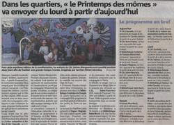 Article nice matin du  25avril2014. Fresque CAL Ste Marguerite -2