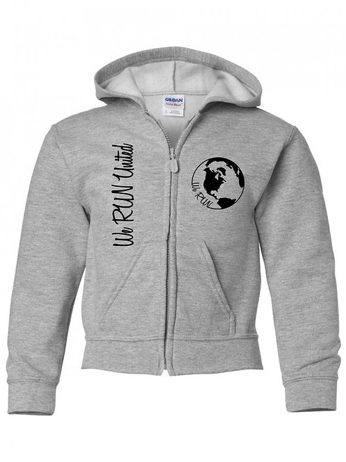 We RUN United Youth Zipper Hoodie
