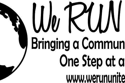 We RUN United Decal