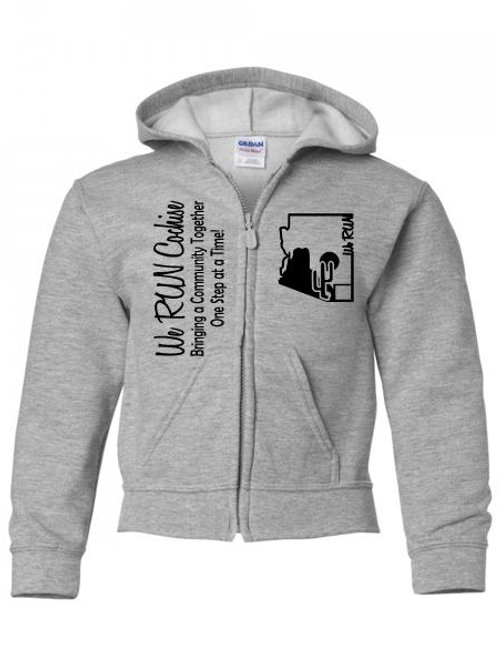 We RUN Cochise Youth Zipper Hoodie