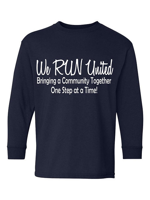 We RUN United Youth Long Sleeve