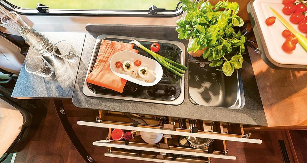 Malibu Van640LE GT - Küche