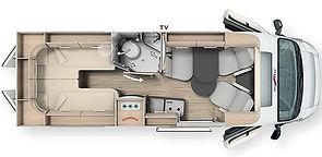 Malibu Van 640 LE GT Hochdach - Grundris