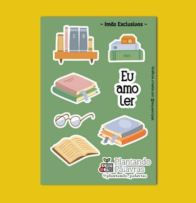Cartela de Imãs Literários