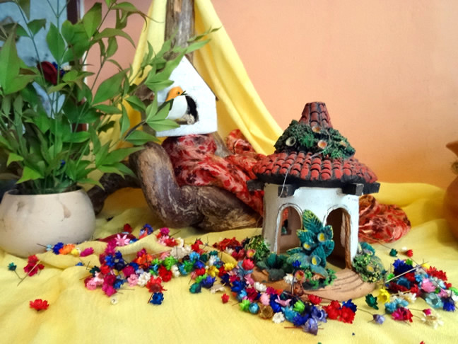Mesa de Primavera Jardim de Infância Wal