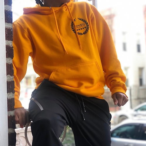 Yellow Embroidered hoodie
