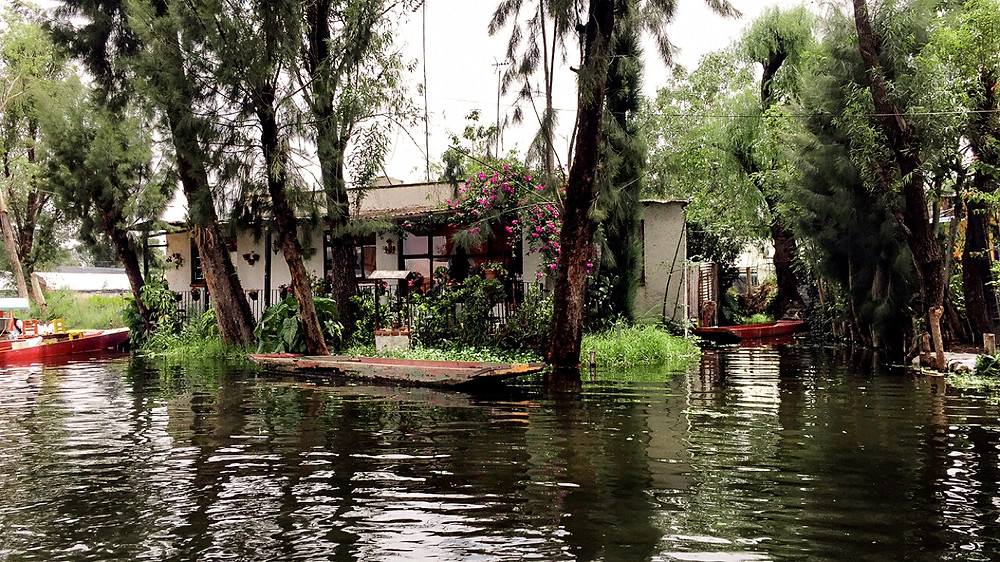 Xochimilco Mexico City house on the water