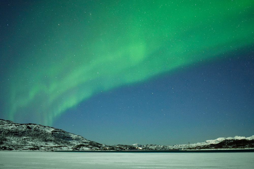 Northern Lights  over Norway in winter