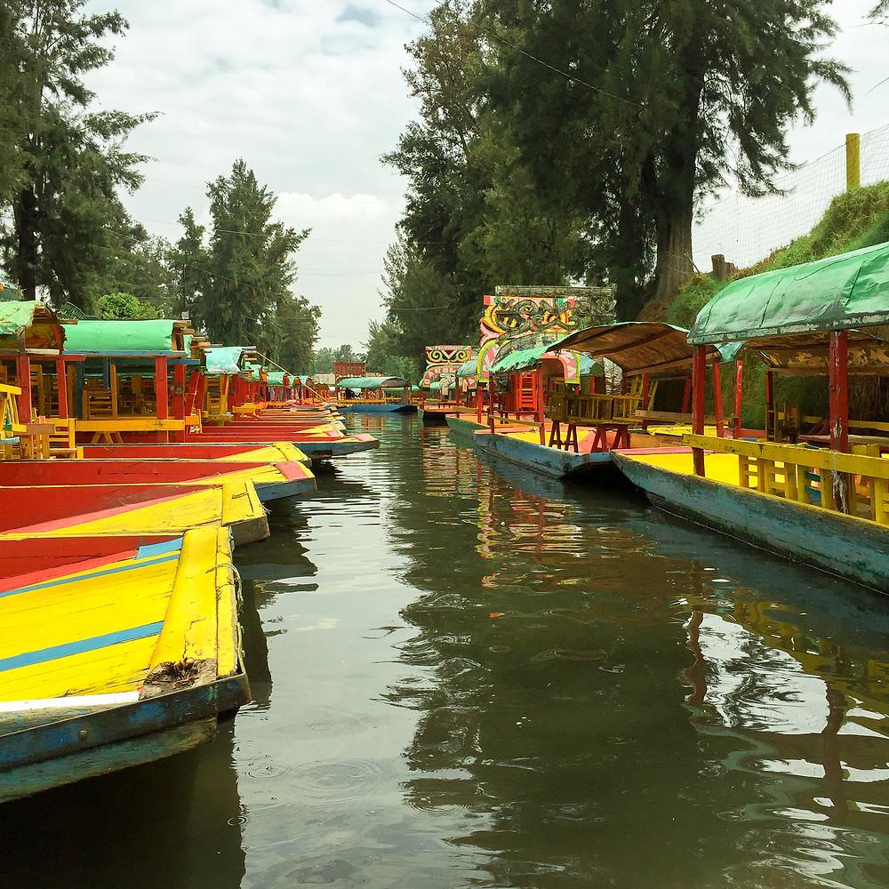 Xochimilco boats Mexico City