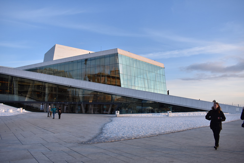 Opera House in Oslo in Winter