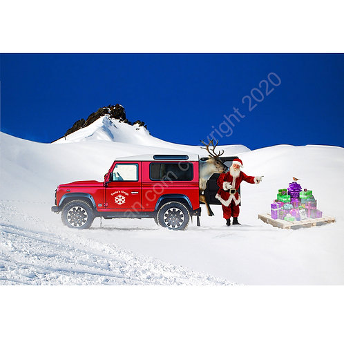 5 x Santa's Landy Christmas Cards