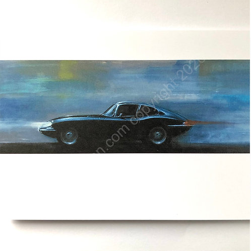 5 x Blue E type Greeting Cards