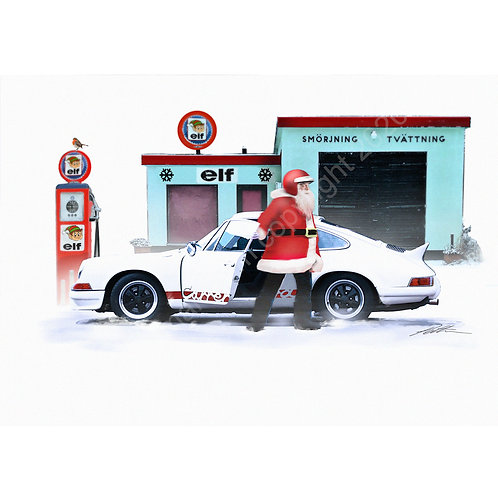 5 x Santa's 911 Christmas Cards