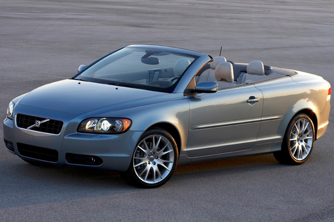 C70 roof down