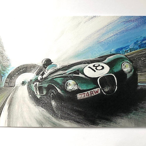 5 x Jag Le Mans Winner Greeting Cards