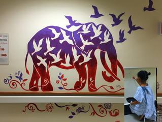 Arte y juego en los pasillos de pediatría 2