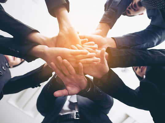 Business people handshaking. People with