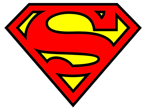 "Iron-On ""Superman Emblem"" In Light Red"