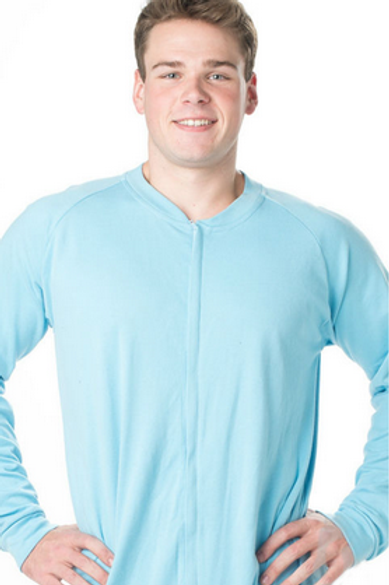 Pajama Adult Footed Light Blue