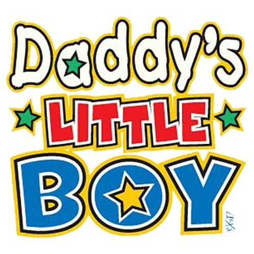 "Iron-On ""Daddy's Little Boy"""
