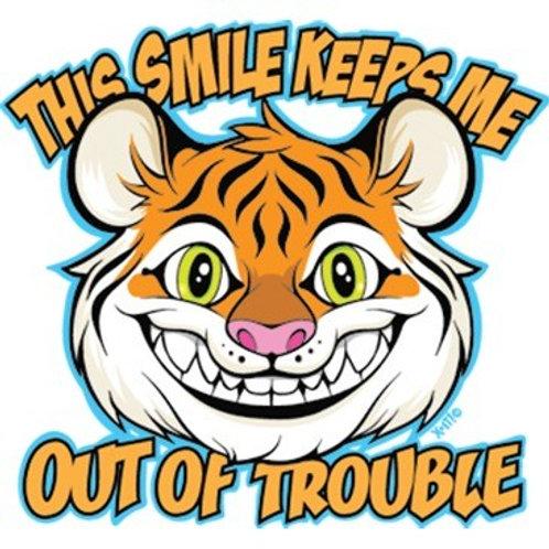 """Iron-On """"This Smile Keeps Me"""""""