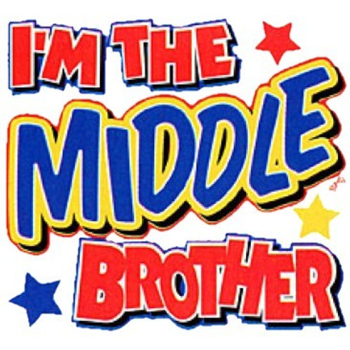 "Iron-On ""I'm The Middle Brother"""