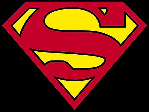 """Iron-On """"Superman Emblem"""" In Dark Red"""