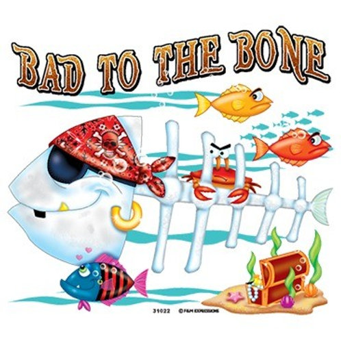 "Iron-On ""Bad To The Bone"""