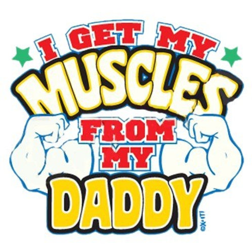 """Iron-On """"I Got My Muscles"""""""