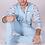 Thumbnail: Pajama Adult Footed Cloud Light Blue