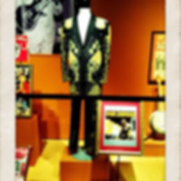My Nudie Suit on display in the Bob Bullock museum