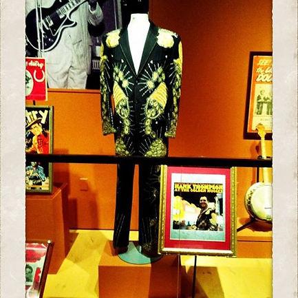 My Nudie Suit on display in the Bob Bullock museum
