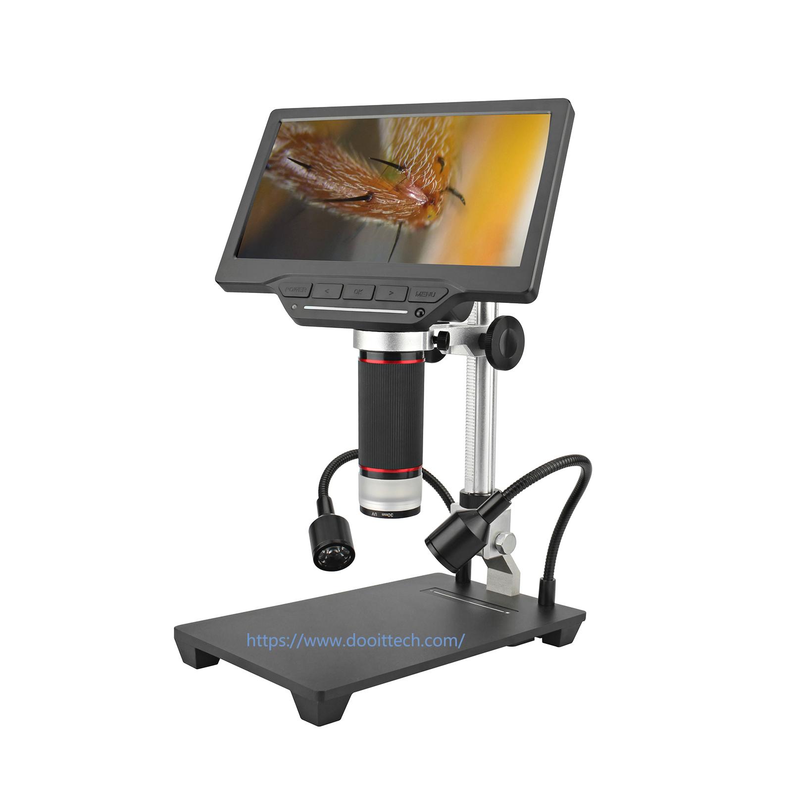 螢幕USB數位電子顯微鏡+LED蛇管燈