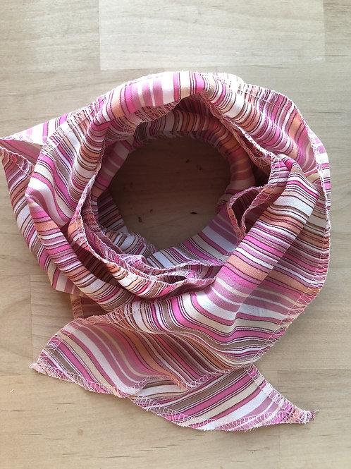 Foulard douce harmonie rosée