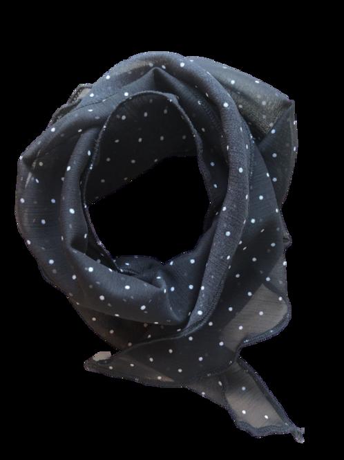 Foulard noir picoté