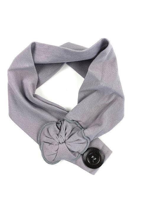 Bandeau gris coton