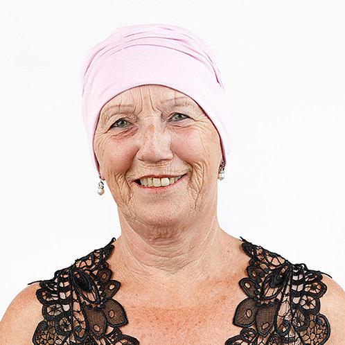 Bonnet de chimio rose tendre