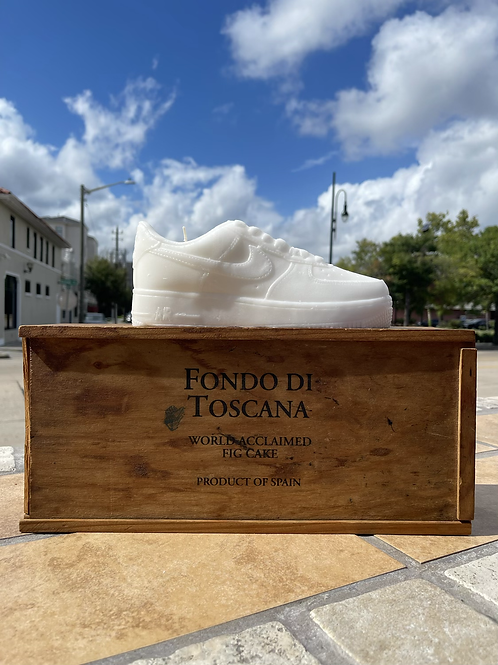 """All White """"Triple Scented"""" Nike Air Force 1 Candle"""