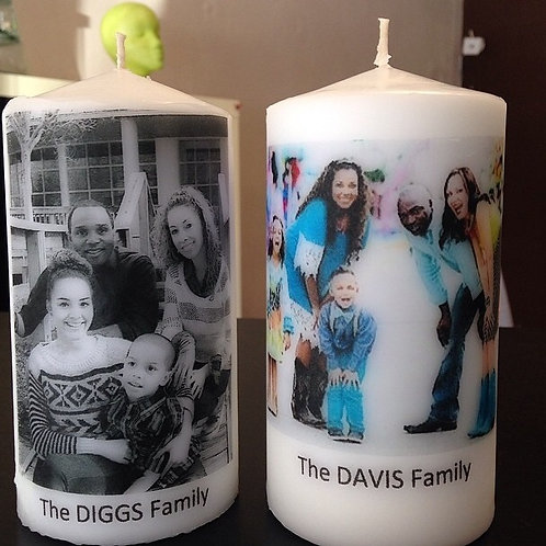 Custom Picture Memory Candles