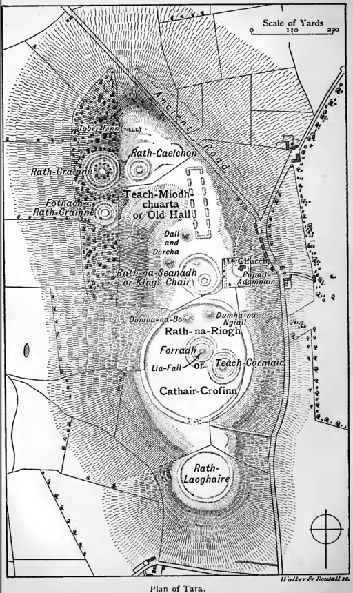 Layout of the Hill of Tara, Wakeman's handbook of Irish antiquities (1903)