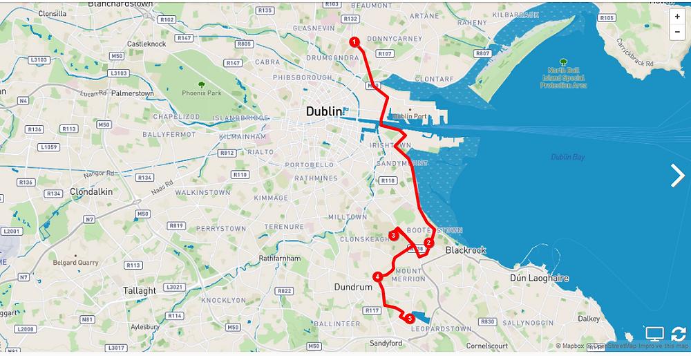 Boosterstown, Dublin Port Tunnel, Sandyford, UCD, Goatstown