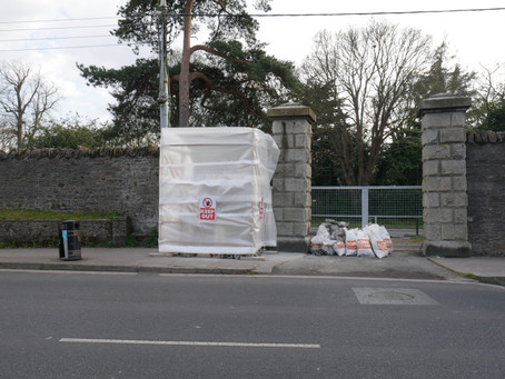 Phoenix Park Walls damaged by OPW North Road Works