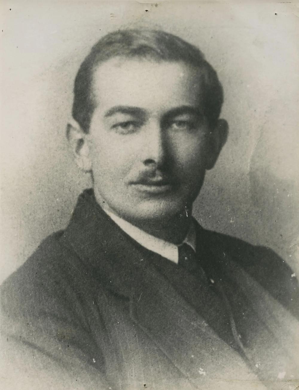 Black and white image of Irish revolutionary leader Seán Treacy