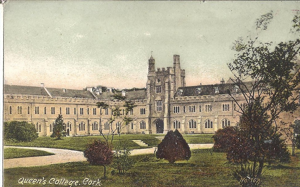 UCC, University College, Cork, postcard, Western Road, College Road, campus, Cork prison.