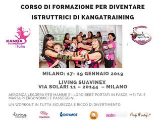 Corso di formazione ''istruttrice di kangatraining'' al Living Suavinex di Milano