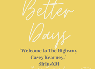 """Better Days"" Played on Sirius XM"