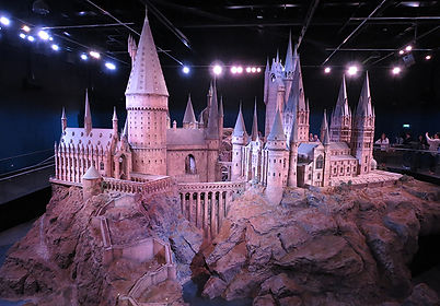 Orignal image of Hogwarts model taken at HP Studios with bad lighting and people in the background