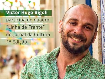 Victor Hugo Bigoli dá entrevista ao Jornal da Cultura